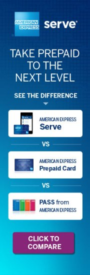 American Express Serve Card Advert